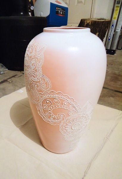 Puff Paint On Vase This Just Inspired Me To Get A Bunch Of Vases