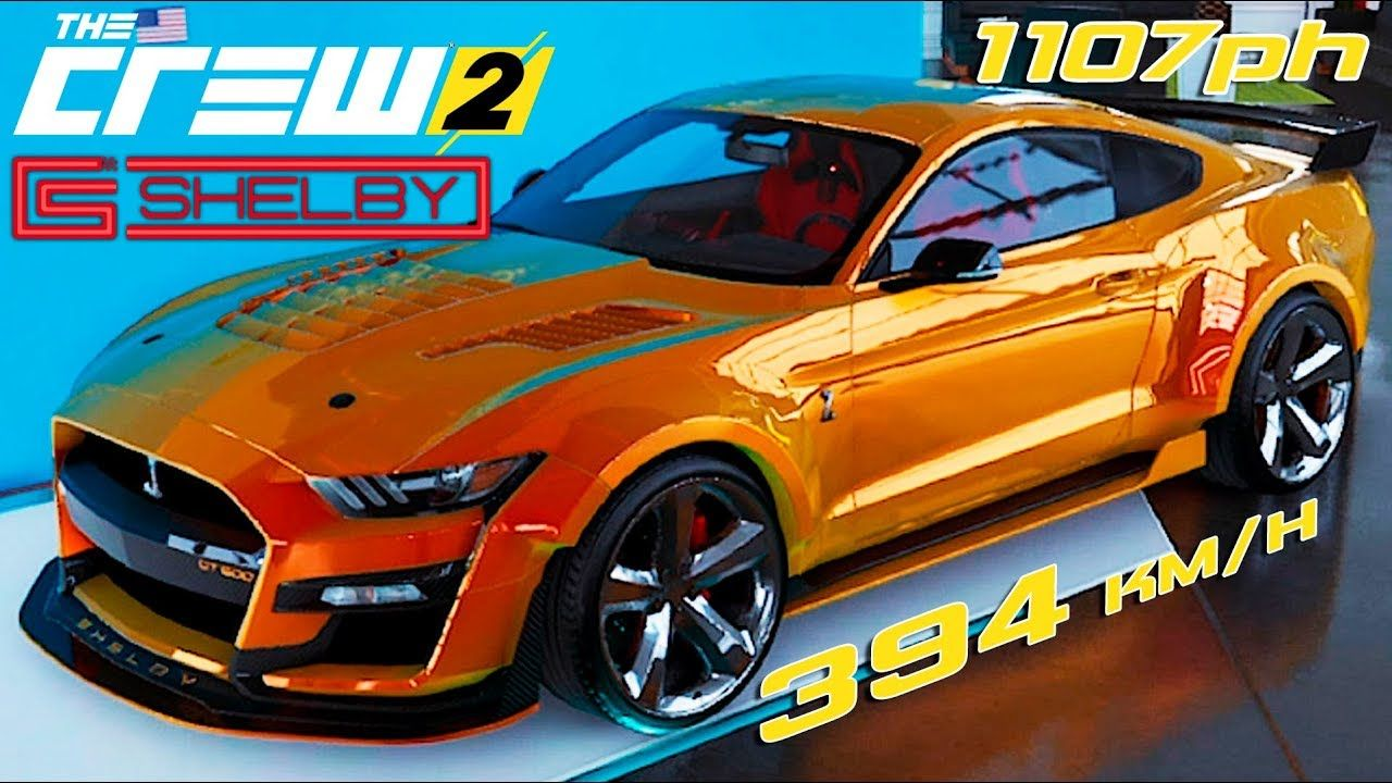 The Crew 2 New 2020 Ford Shelby Mustang Gt500 Customization Top Speed In 2020 Ford Shelby Mustang Shelby Ford Mustang Shelby