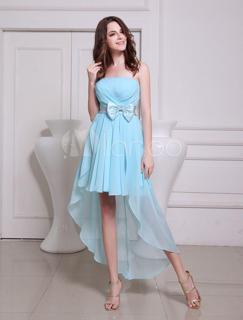 Ocean blue aline sash chiffon pretty prom dress occasion dress