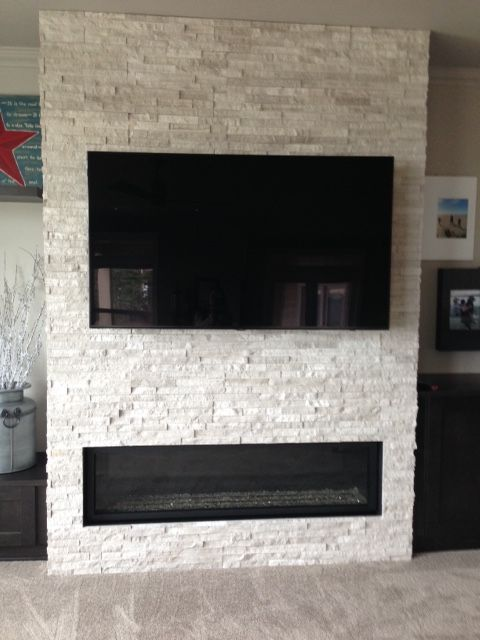 concept for the living room fireplace tv or art could hang above linear fireplace