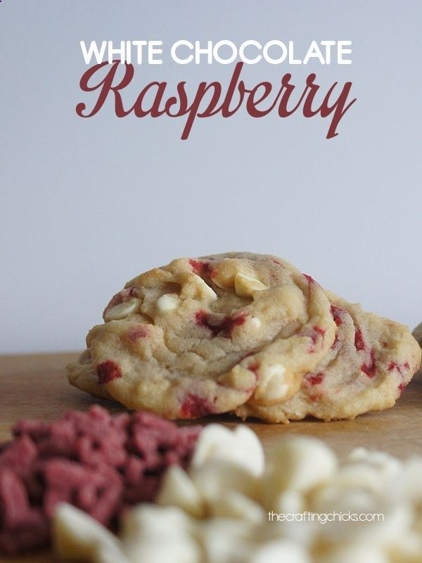 White Chocolate Raspberry Cookie Recipe. Want to try this so bad!!!! Looks so good