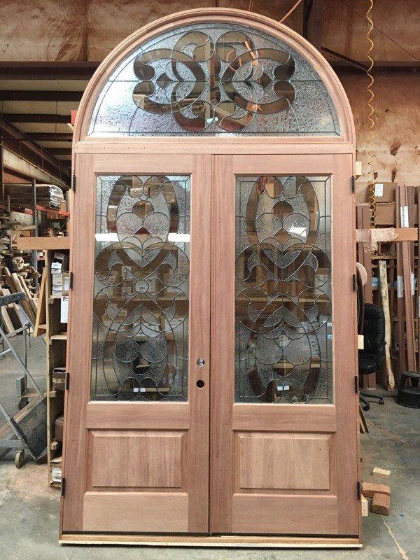 Dallas Millwork Custom Leaded Glass In Custom Wood Door Dallas