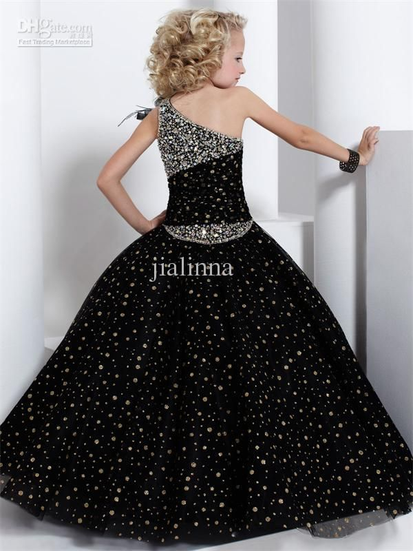 Wholesale Pageant Dresses - Buy Tiffany Princess Stunning One Shoulder Handmade Beaded Tulle Ball Gown Girls Pageant Dresses Birthday Dress For Girl, $101.47 | DHgate