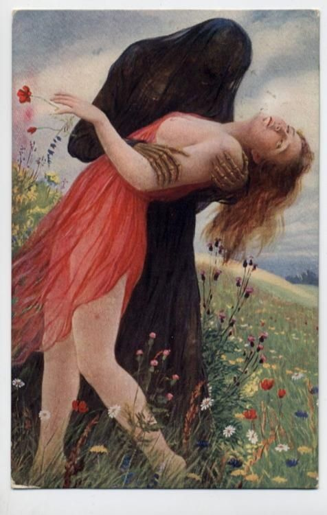 ''Death and the maiden '' theme by Aldolf Hering {ca.1910}.