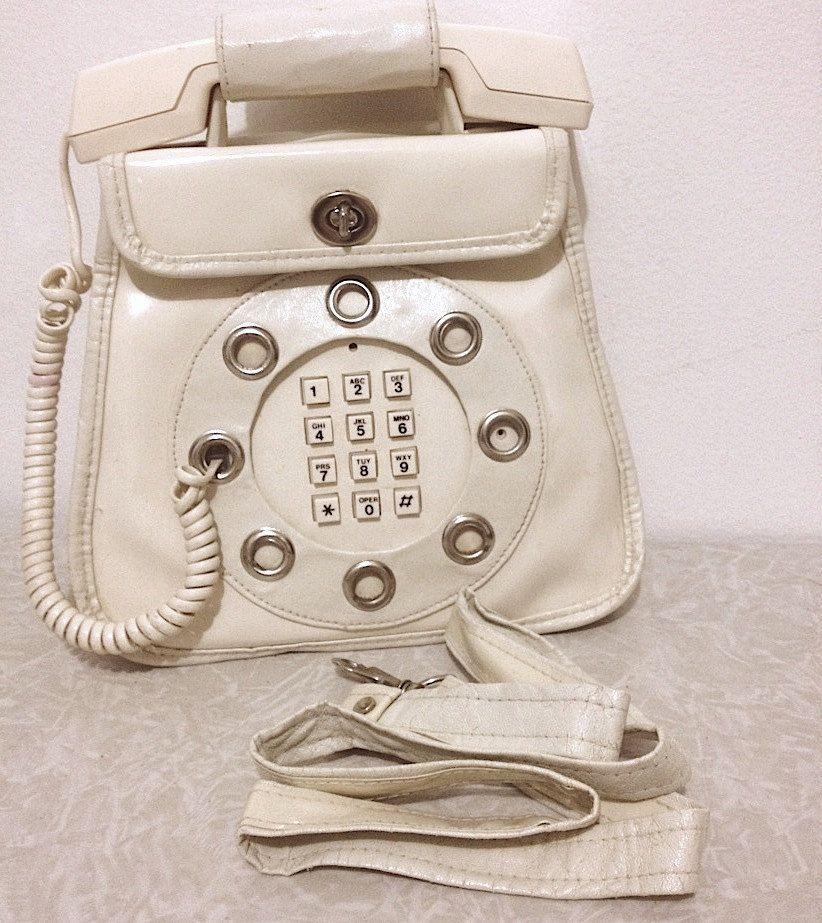 1970s Vintage Working Telephone Purse by Dallas Handbags