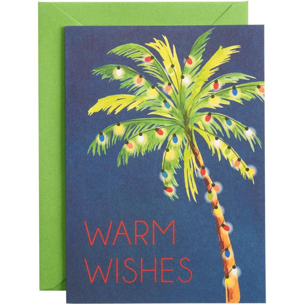 Warm Wishes Palm Holiday Card Set Paper Source Holiday