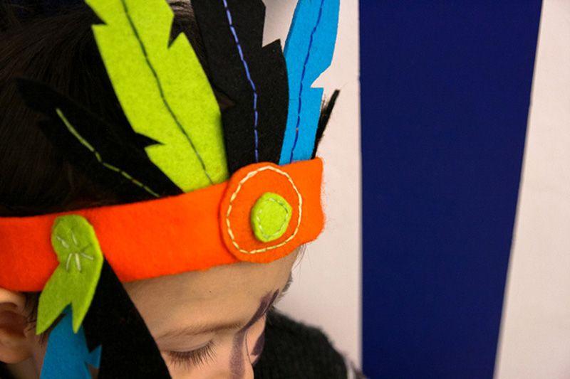 Apprenez à fabriquer une coiffe d\u0027indien en feutrine afin d\u0027offrir à vos  enfants un magnifique déguisement à moindre coût pour le carnaval !