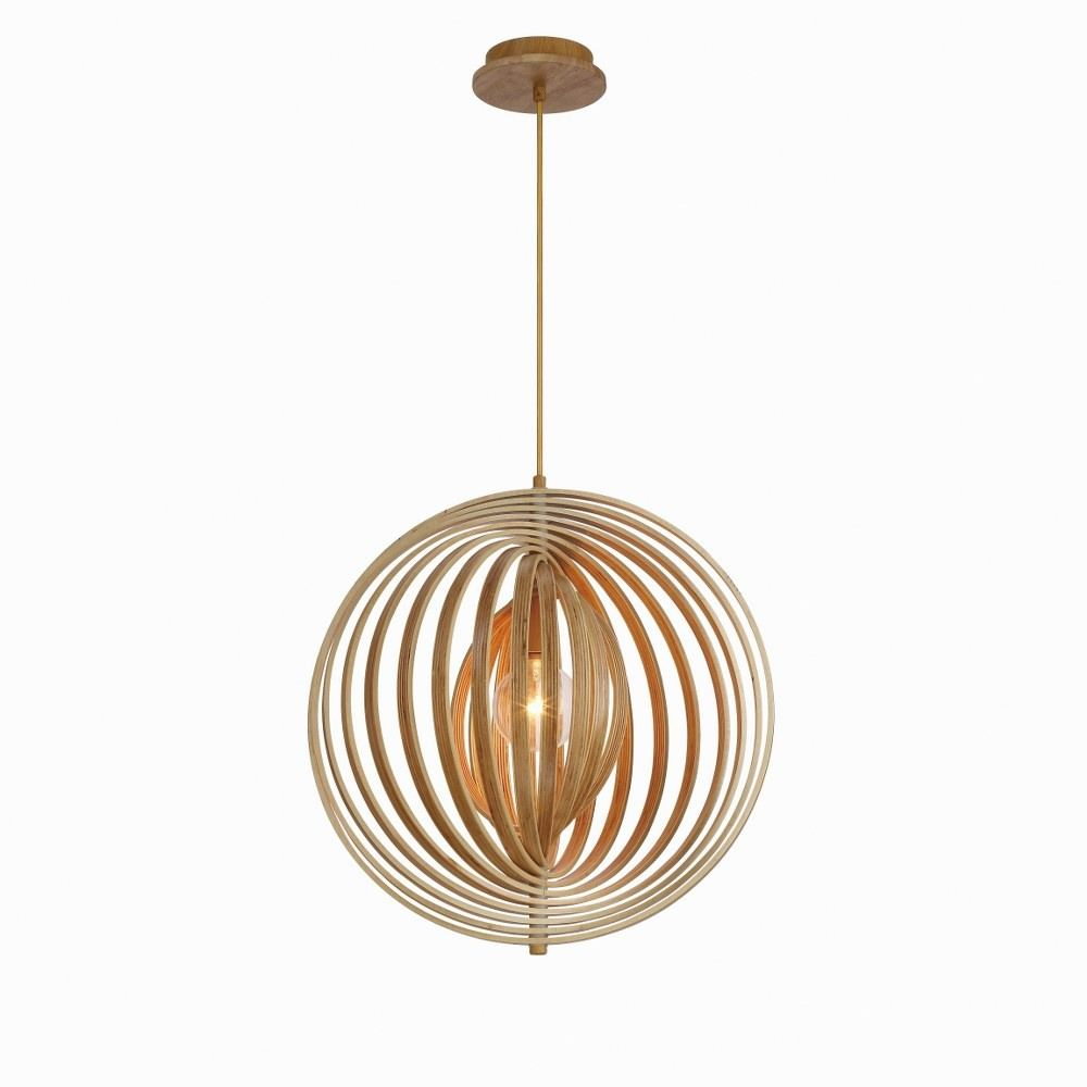 Transitional 1 Light Large Pendant With Natural Wood Wood 20 Inches Pendants Wood Finish In 2021 Globe Pendant Light Pendant Light Pendant Fixture