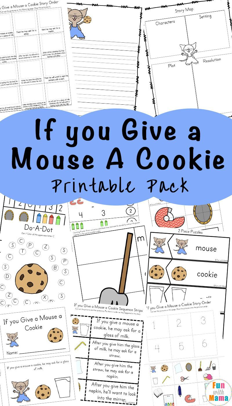 If You Give A Mouse A Cookie Printable Activities Kids Learning