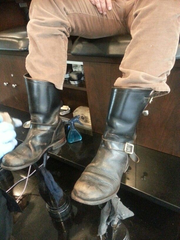 Cordovan Engineer Boots By Himel Bros Mens Motorcycle Boots Boots Shoe Boots