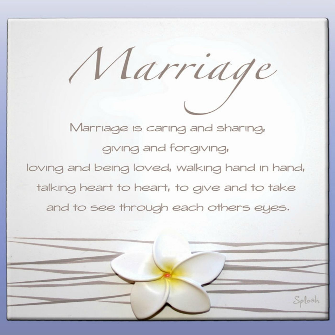 Marriage Marriage Poem Splosh By Occasion