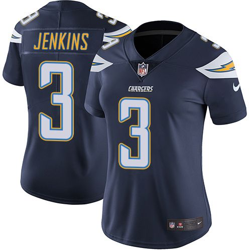 f7d9c70ee Women s Nike Los Angeles Chargers  3 Rayshawn Jenkins Navy Blue Team Color  Vapor Untouchable Limited Player NFL Jersey