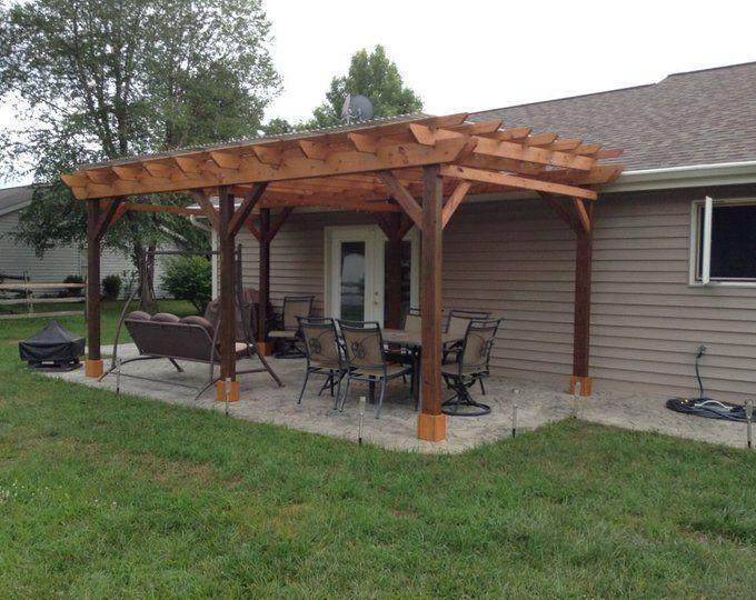 covered pergola plans 12x24 outside patio wood design