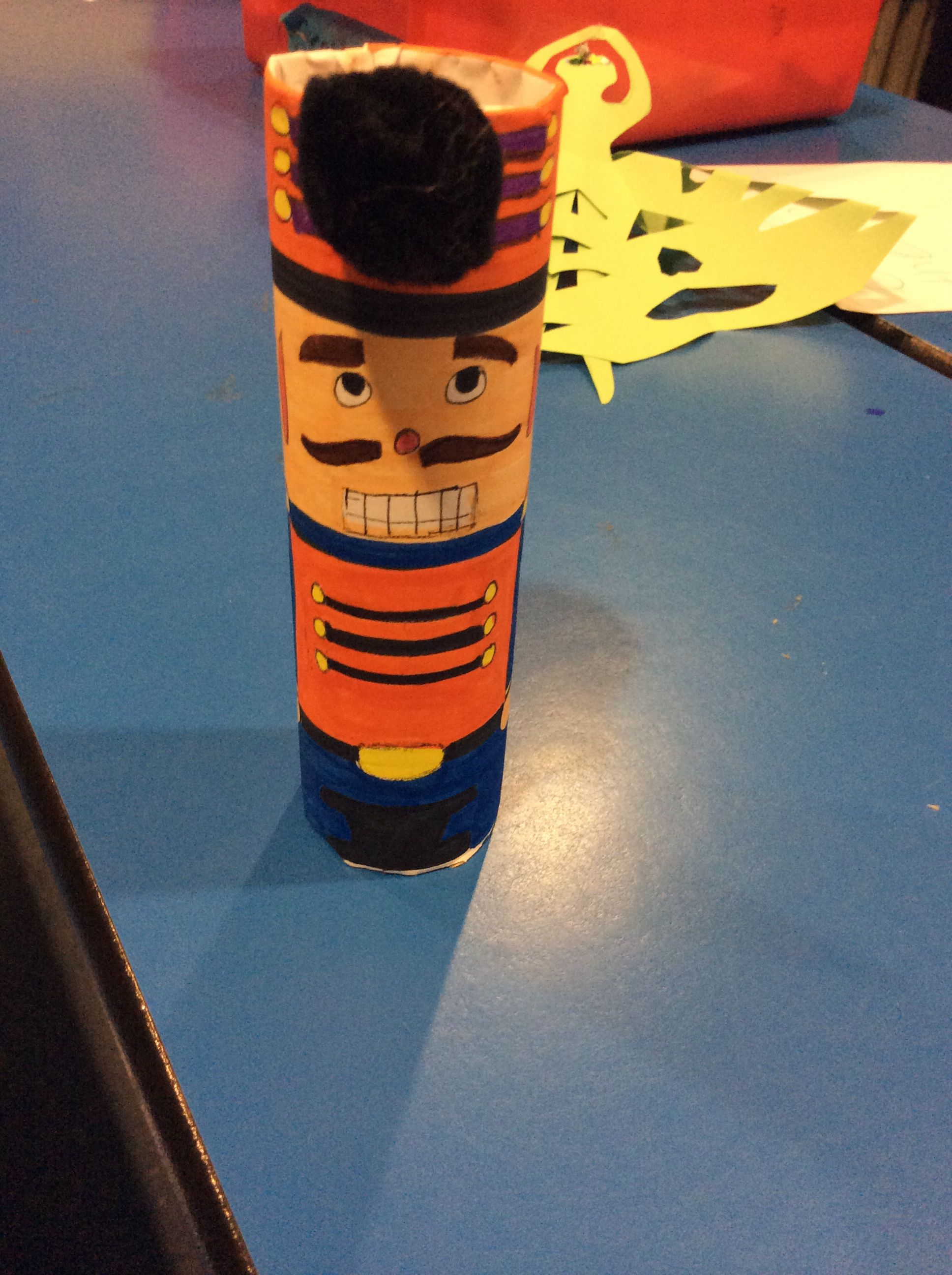 Nutcracker made in toilet paper roll Crafts