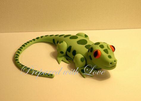 Lizard Cake Topper by Prepared with Love, via Flickr