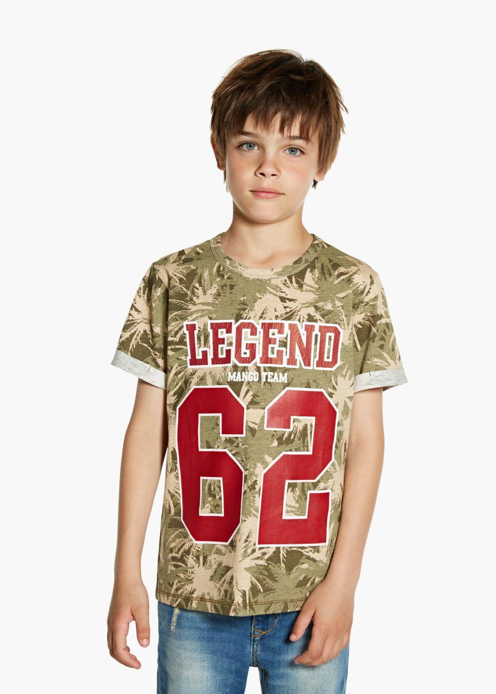Tshirt imprimé palmiers garçon