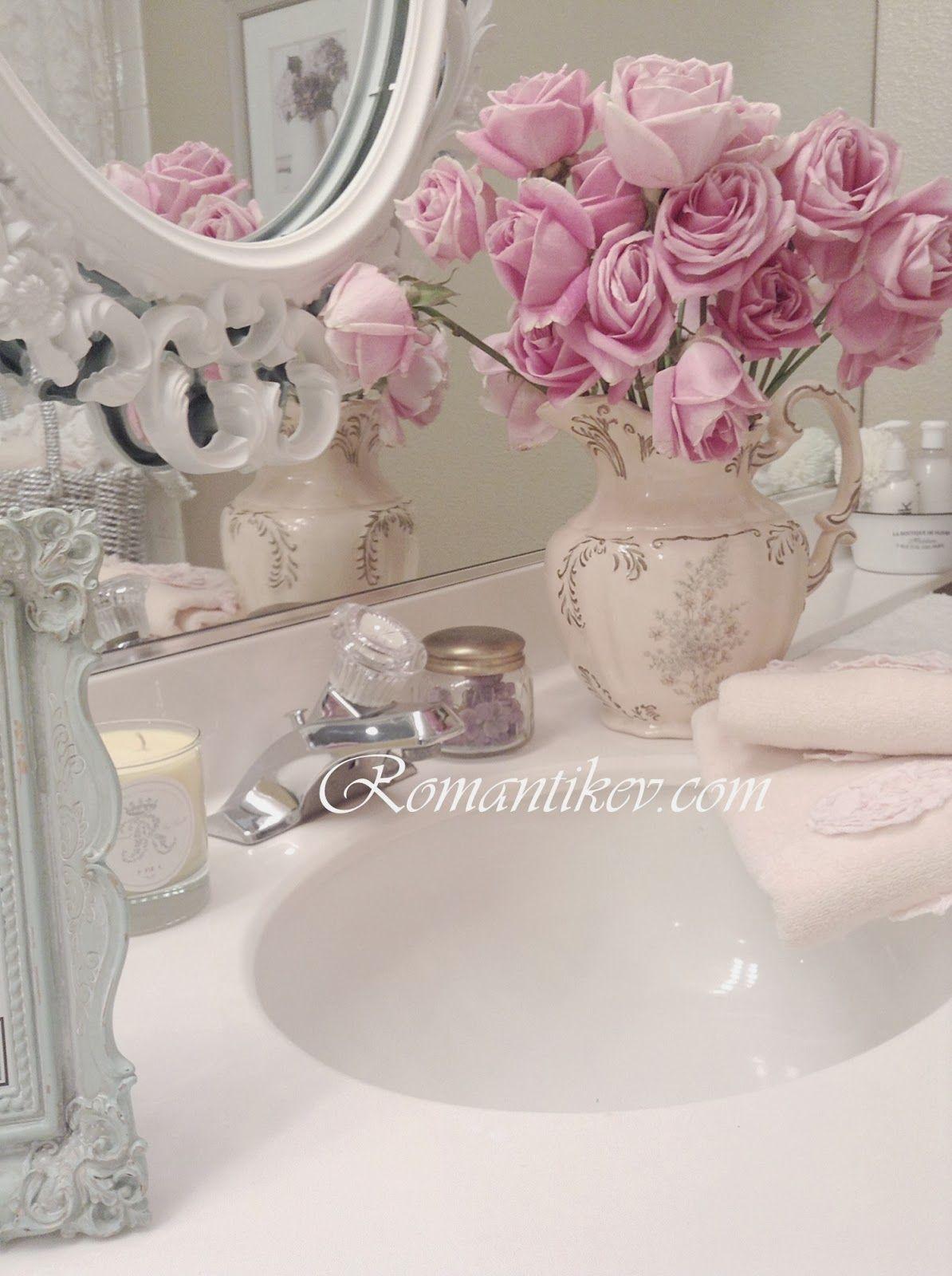 Romantic shabby chic home romantic shabby chic blog - My Shabby Chic Home Romantik Evim Romantik Ev Romantik Ev My Bathroom Shabby Chic Pembe Beyaz