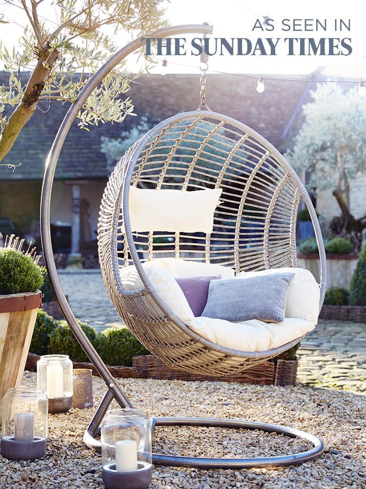 New indoor outdoor hanging chair modern bohemian for Indoor outdoor furniture