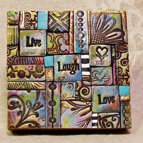 Custom Polymer Clay Tile Mosiac By Ashpaints On Etsy 15 00