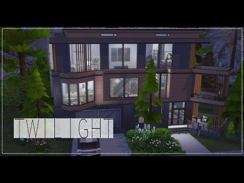 The Sims 4 Speed Build Cullen Residence Twilight Youtube Sims 4 Twilight House Sims