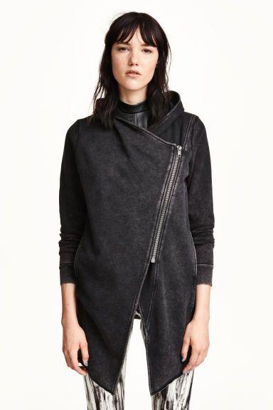 Hooded sweatshirt cardigan   H&M