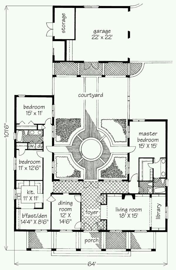 Carport larger and then bedroom bath laundry to side or for House plans with future additions