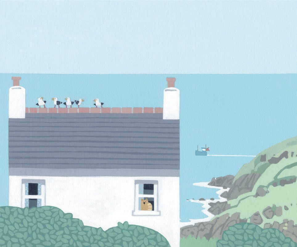 Atishoo Gallery | The White House, Cape Cornwall, by Sasha Harding