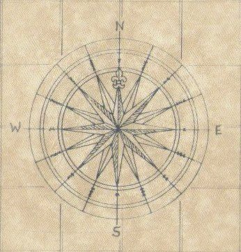 Compass Rose On A Map