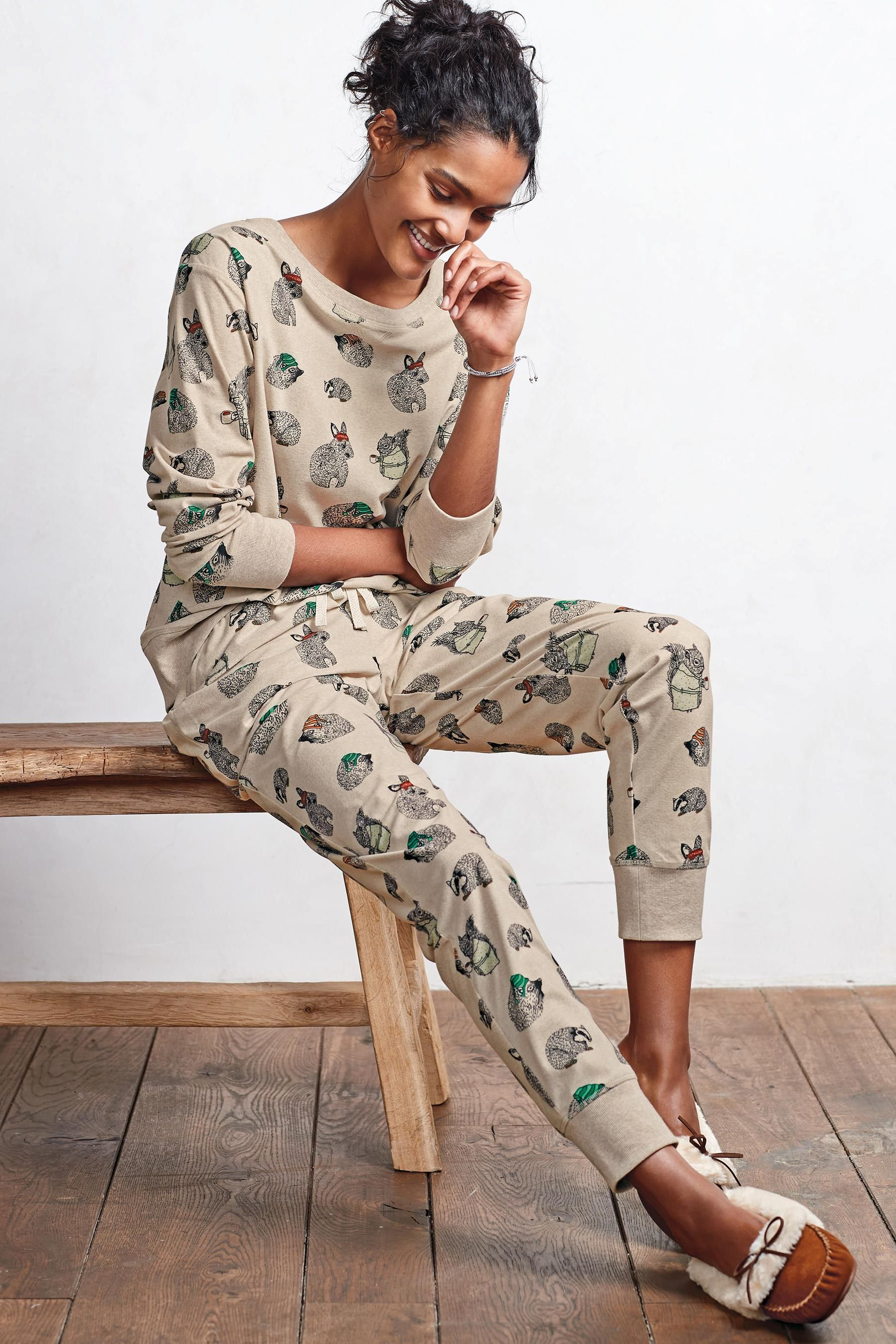 580d1562c0 Buy Neutral Woodland Print Cosy Pyjamas from the Next UK online shop ...
