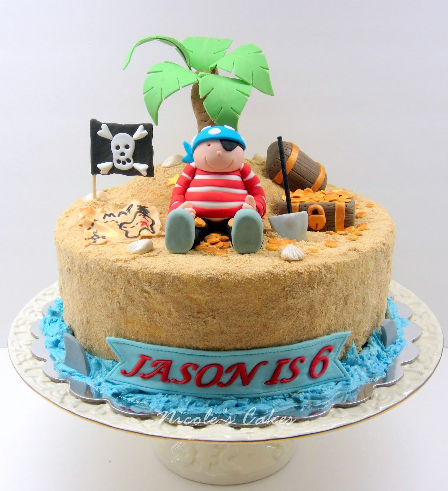 Cake ideas on pinterest pirate cakes marshmallow fondant and - Cake
