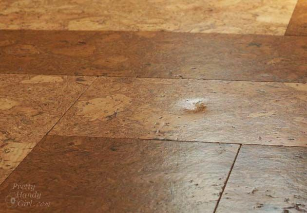 Update Our Cork Floors One Year Later Pretty Handy Girl Cork