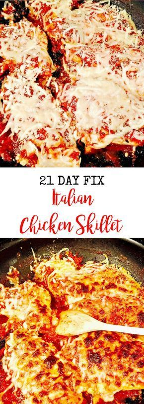 21 Day Fix Italian Chicken Skillet | Confessions of a Fit Foodie