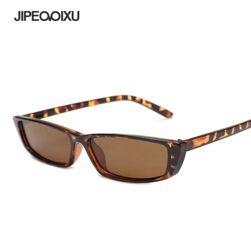 4cfa5da3f359 JIPEMIXU New Rectangle Cat Eye Sunglasses Women Small Frame Leopard Print  Fashion Designer Sun Glasses UV400