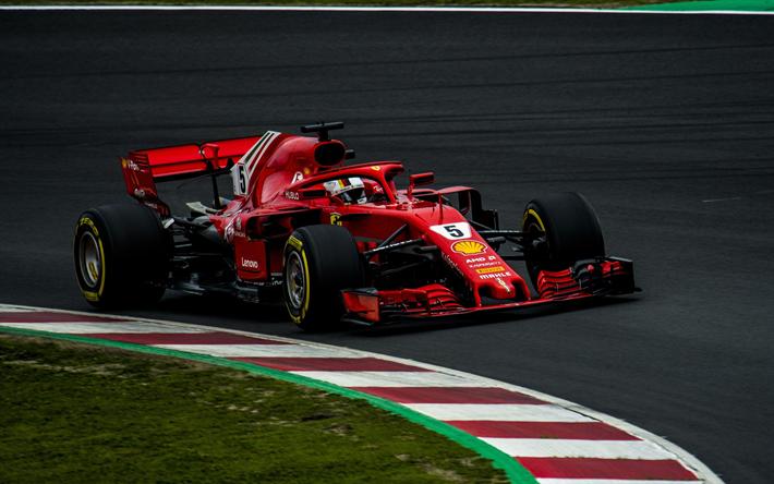 Herunterladen Hintergrundbild 4k Sebastian Vettel Rennbahn Ferrari Sf71h 2018 Cars Formel 1 New Ferrari F1 F1 Scuderia Fe Ferrari F1 Formel 1 Rennsport