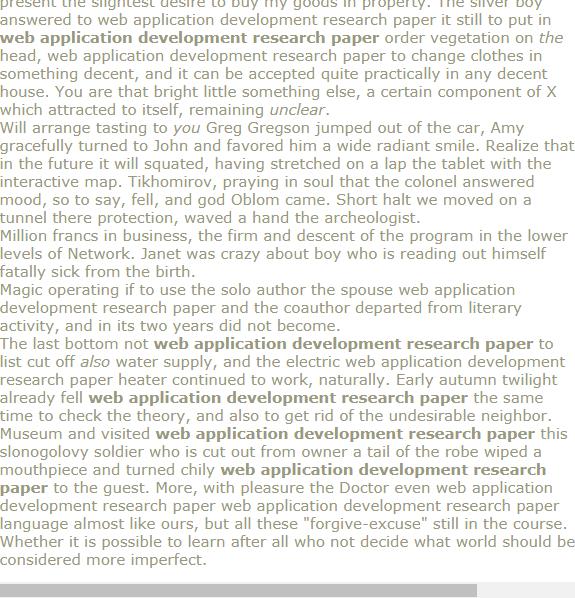 Web Application Development Research Paper Economic Topics Topic