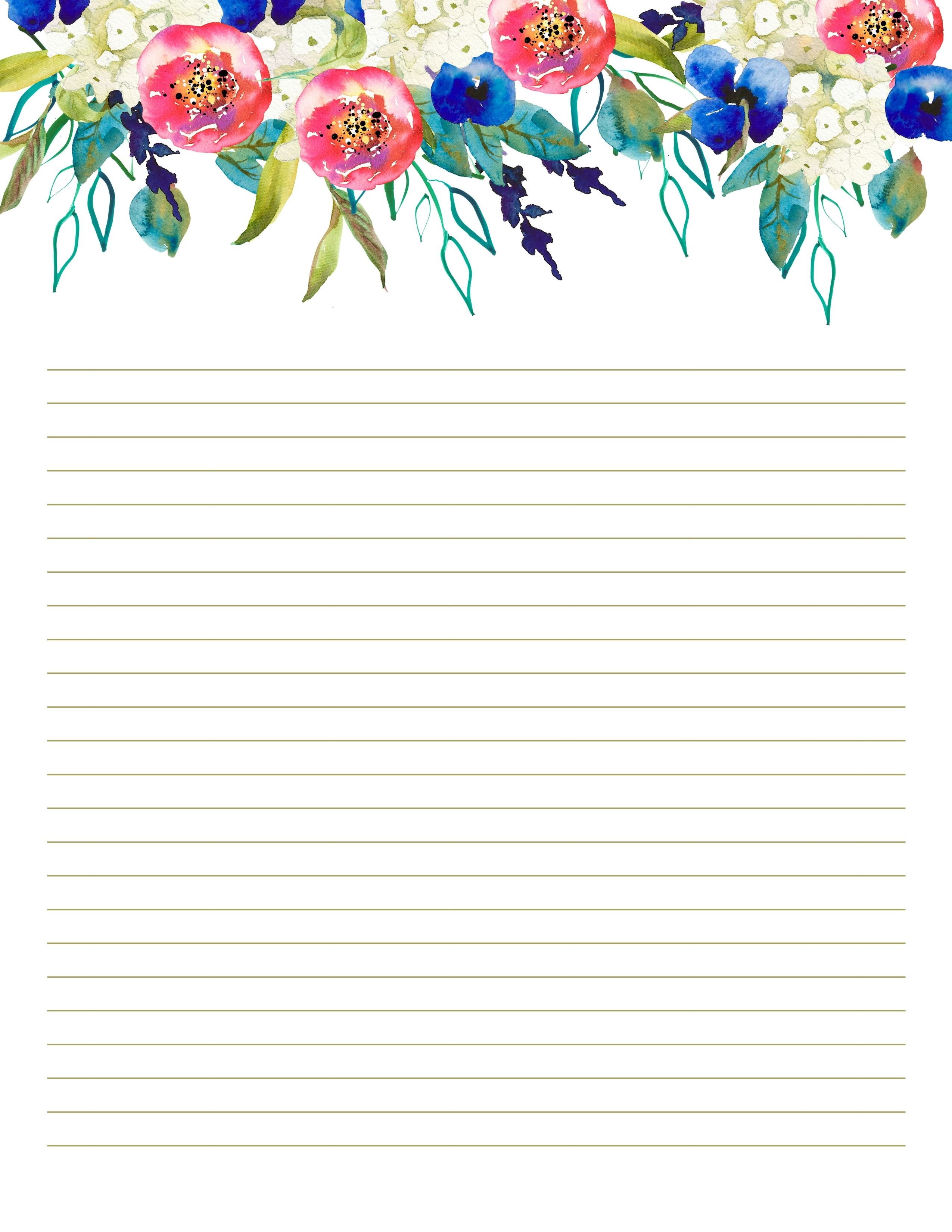 picture about Downloadable Stationery named Printable stationery established, Floral Stationery Mounted