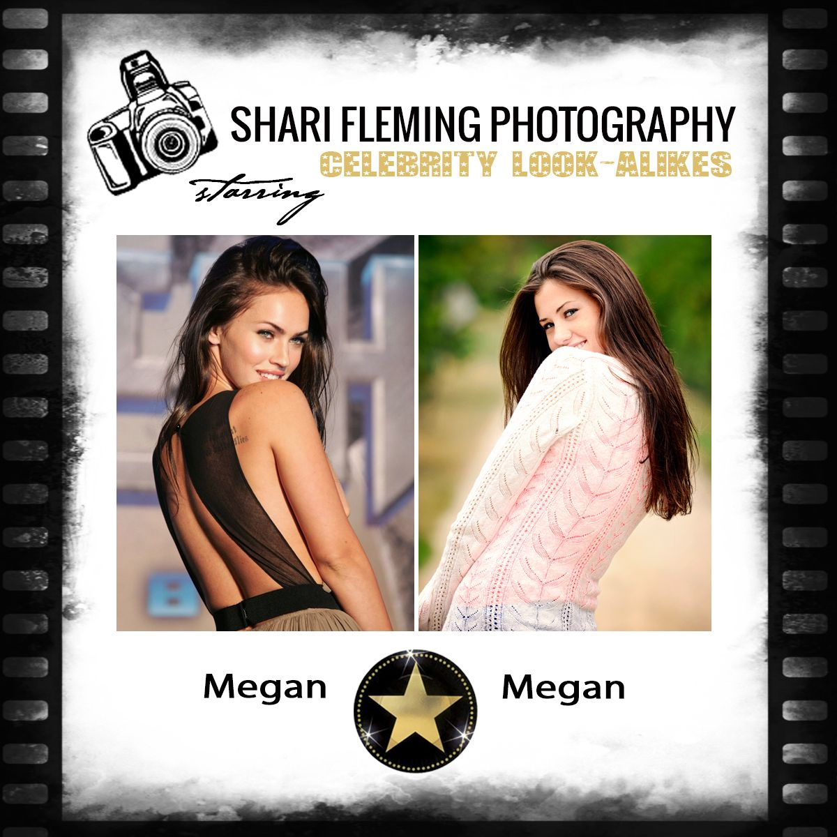 Megan (right) photographed by Shari Fleming