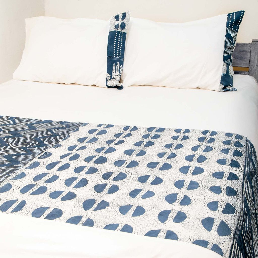 Duvet Covers ~ Tribal Cloth Designs Queen $265.00 USD Duvet cover and pillowcases in 100% cotton material, inlaid with beautiful hand-painted fabric strip in a patchwork of our Tribal cloth, inspired by traditional African mud-cloth. Each patch features a variety of motifs with a modern Tribal twist, in a sophisticated indigo colourway #TribalCloth #TribalTextiles