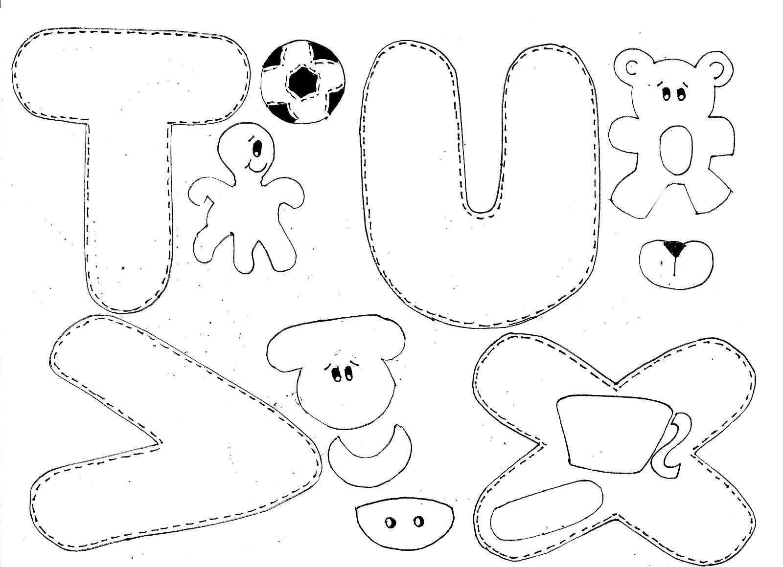 Moldes Alfabeto Ilustrado Em Eva Molde Alfabeto Tecidos