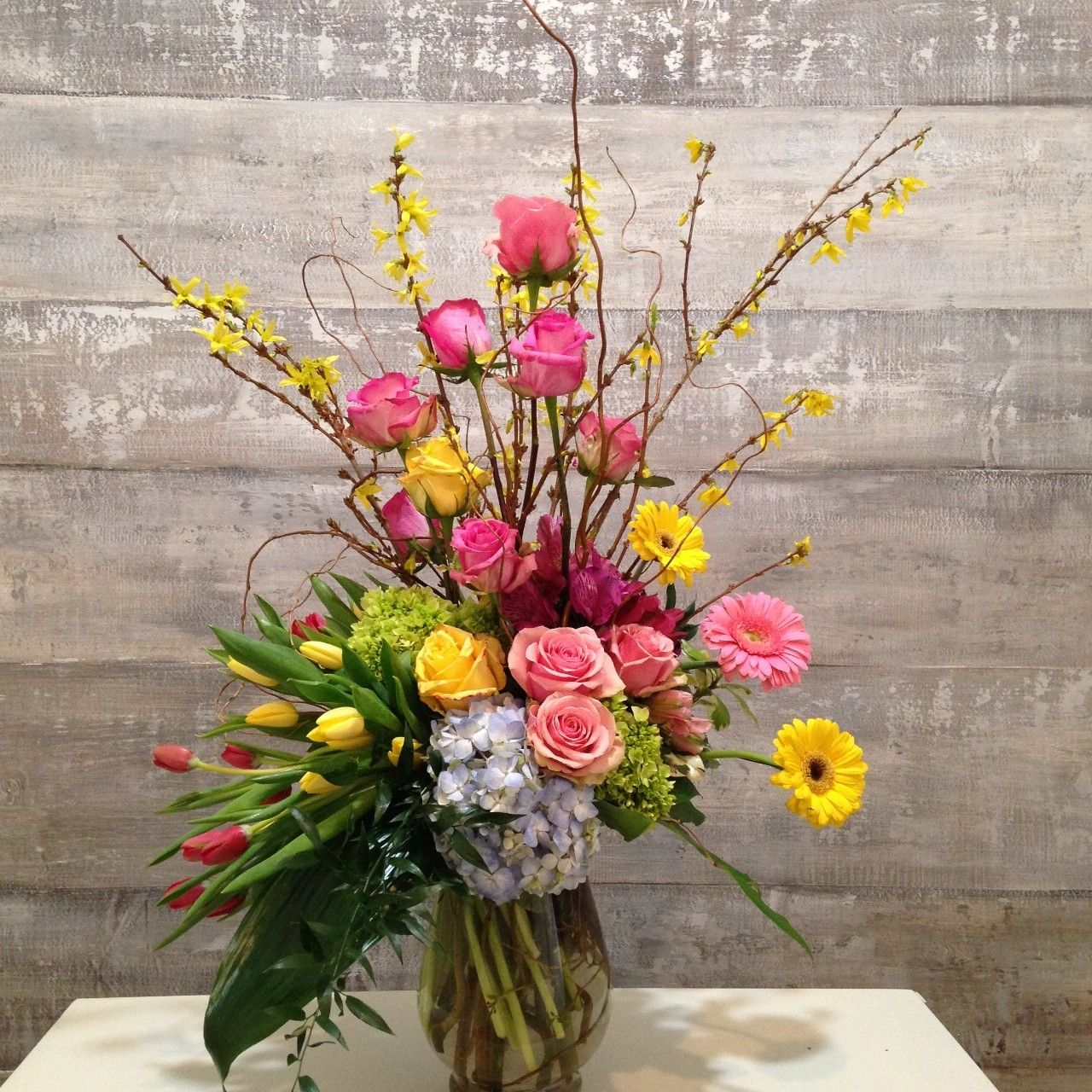 Flower and color combinations may vary slightly with