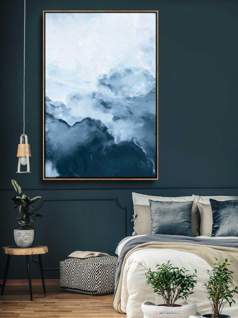 Peinture D Origine Afar I Peinture En Nuage Extra Large Wall Art Blue Abstract Fine Art Painting Peindre Des Nuages Art Abstrait Moderne Grand Art Mural