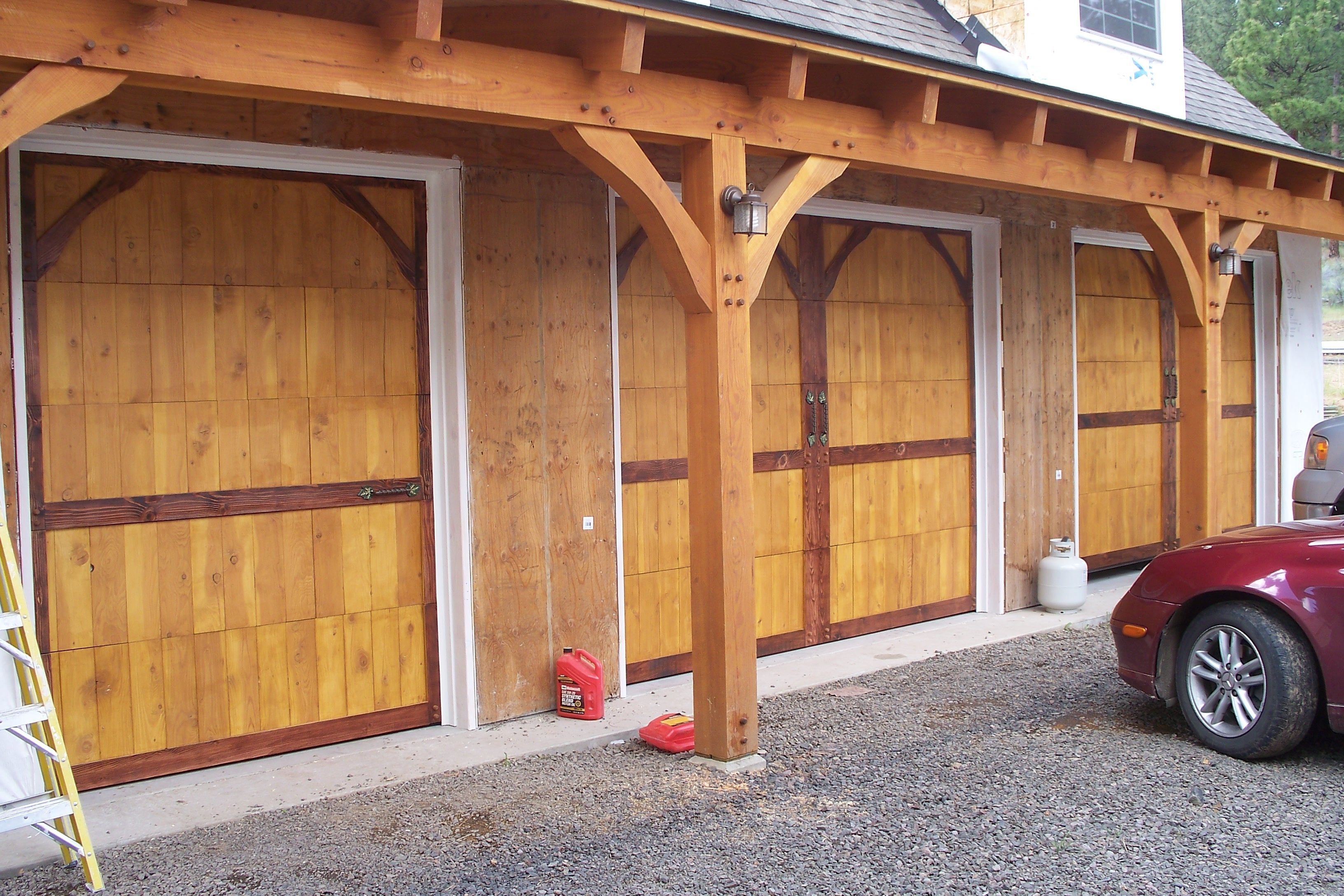 Wood Garage Doors To Compliment The Timber Frame Wooden