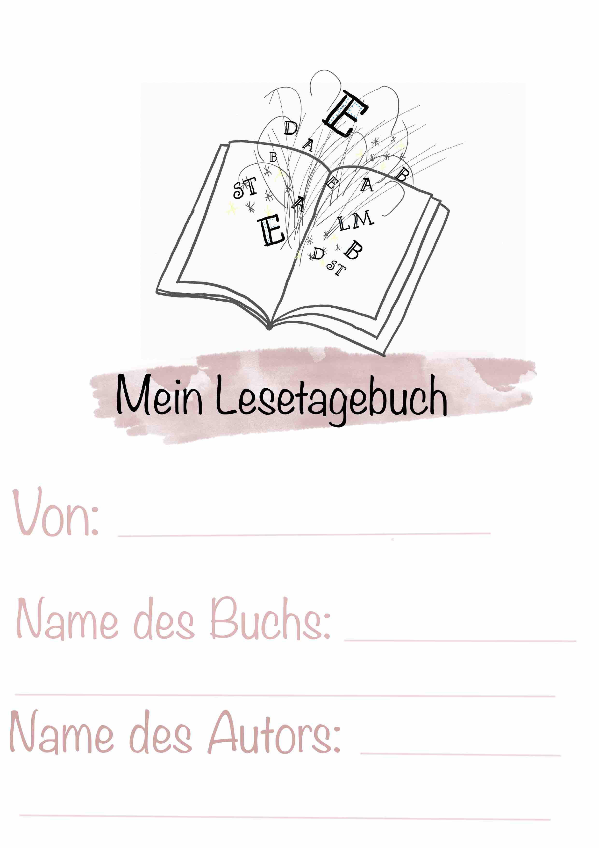 4teachers Vorlage Fur Ein Lesetagebuch 12