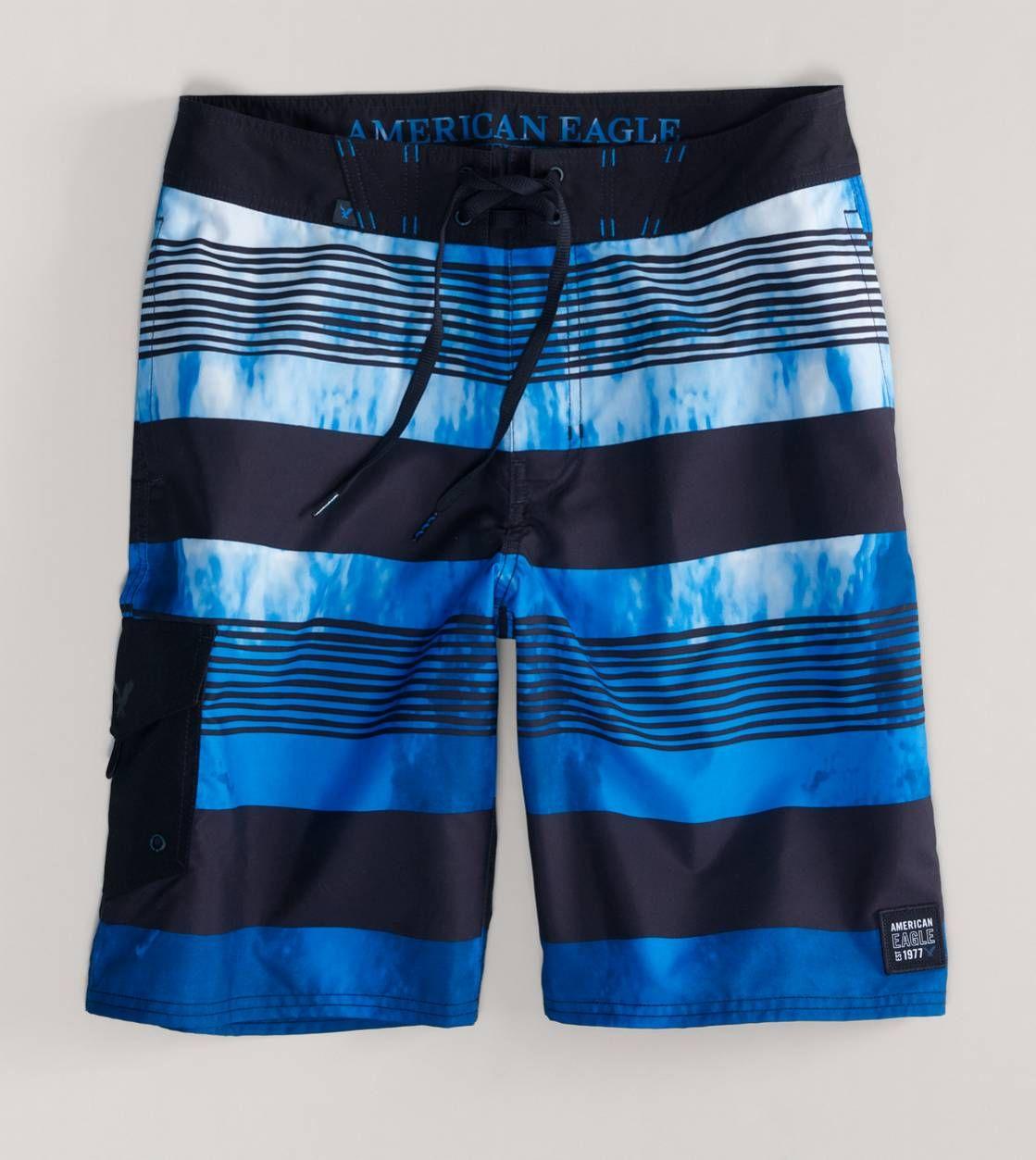 2a35211eca034 Just Add Water. AE Photo Stripe Board Short | Fashion Forward | Mens ...