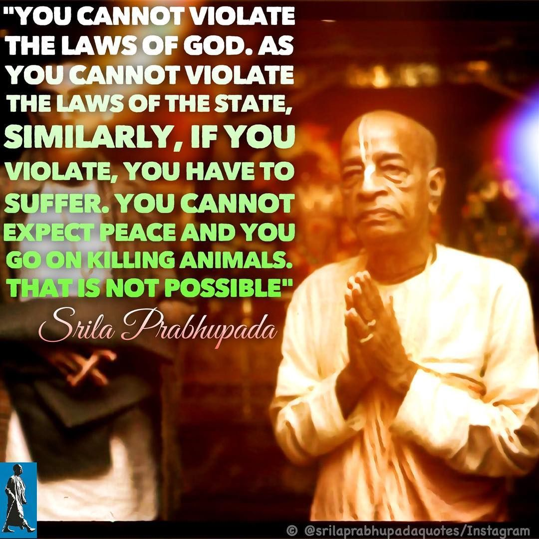 """Srila Prabhupada Quotes on Instagram: """"There will be No peace"""