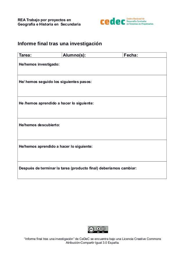 REA Trabajo por proyectos en Geografía e Historia en Secundaria ...