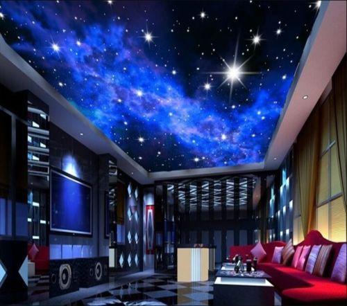 Custom 3D Stars Dream Ceiling Wallpaper Mural Hotel Bedroom Living Room Decor is part of Hotel bedroom Ceiling -