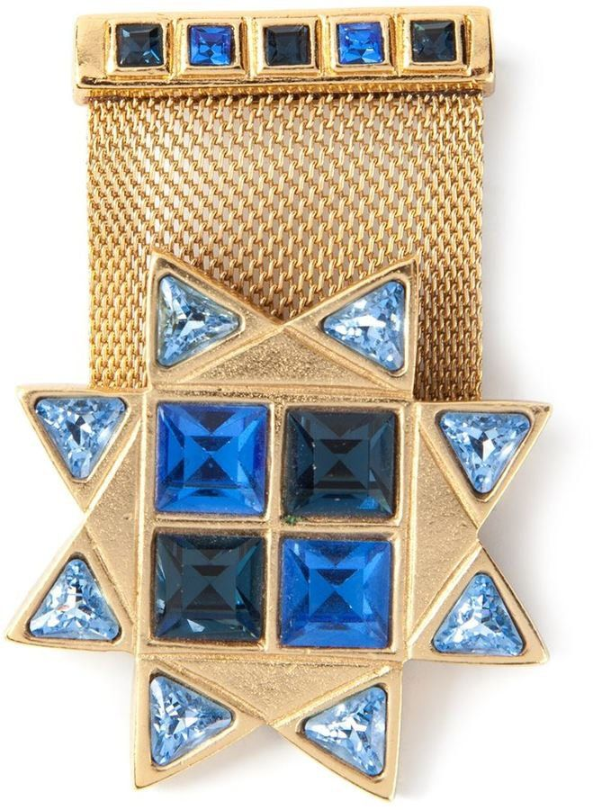 df18f18c553 Pin for Later: This Hot New Jewelry Trend Is Actually Really Old Yves Saint  Laurent Vintage Military Star Brooch Yves Saint Laurent Vintage Military  Star ...