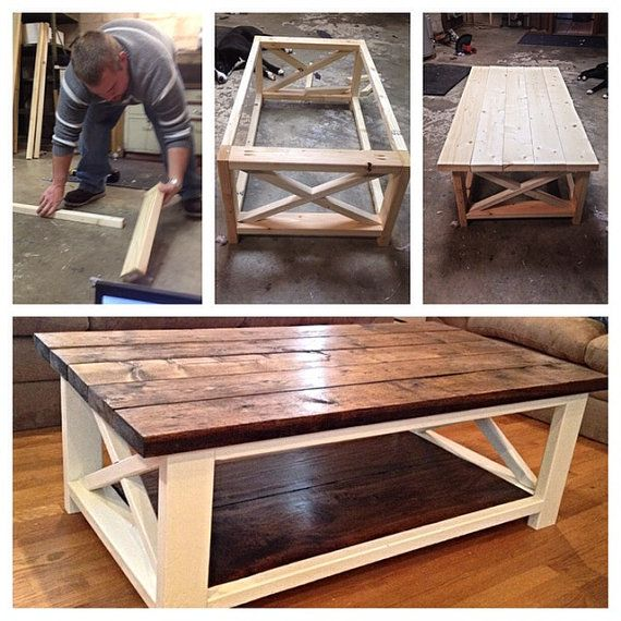 Rustic Coffee Table By Lillardwithlove On Etsy Diy Coffee Table
