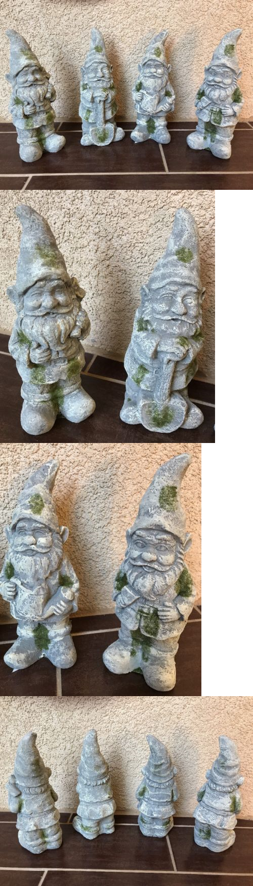 Outdoor decor statues - Statues And Lawn Ornaments 29511 Gnome 4 Pc Set Garden Outdoor Decor Large Builder Statue